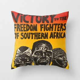 Victory To The Freedom Fighters Of Southern Africa Throw Pillow