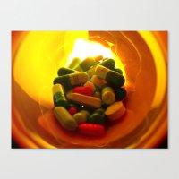 pills Canvas Prints featuring Pills by Jerel Cardona