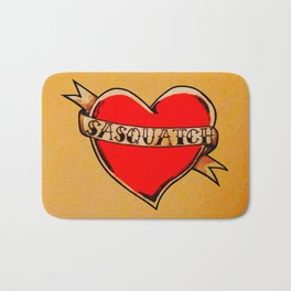 My Heart Belongs to Sasquatch Bath Mat