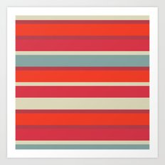 Stripes blush Art Print
