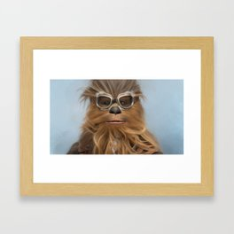Goggle Wookie Framed Art Print