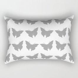 Gray Bold Mod Butterflies Rectangular Pillow