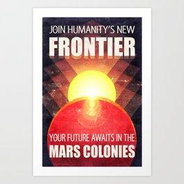 Mars Colonization Retro-Futurist Propaganda Art Print