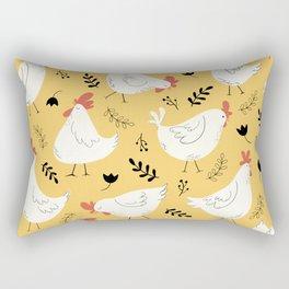 Lovely Little Hens Rectangular Pillow