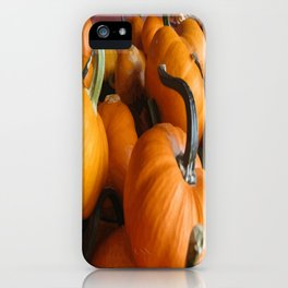 Vector Style Harvest Of Pumpkins iPhone Case