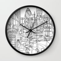 london Wall Clocks featuring London! by David Bushell