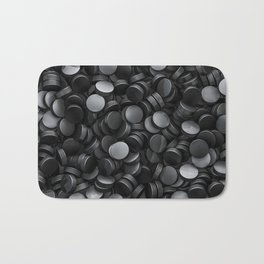 Hockey pucks Bath Mat