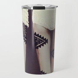 Aztec Inspired Vintage 50's Print Travel Mug