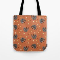 sloths Tote Bags featuring Sleepy Sloths by Marzipress