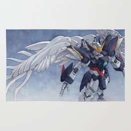 Gundam Wing Zero watercolor Rug