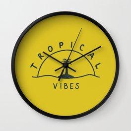 Tropical Vibes 2 Wall Clock