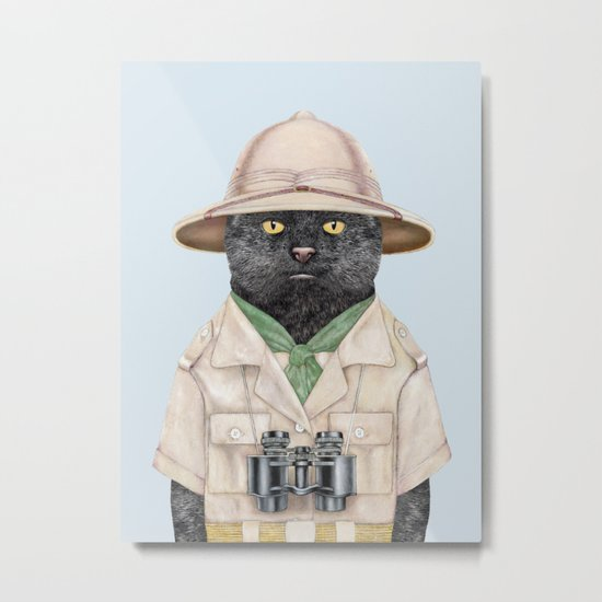Safari Cat Metal Print