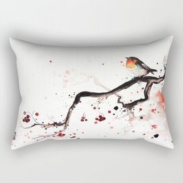 "The tiny wings ""The robin"" Rectangular Pillow"