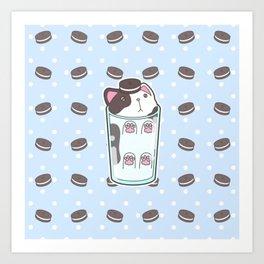 Milky Cat - Cookies & Cream Art Print