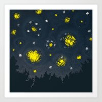 Swirling Night Art Print