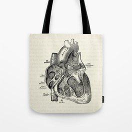 Vintage Anatomy Heart Medical Illustration Umhängetasche