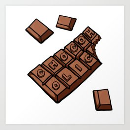 Chocoholic Illustration Art Print