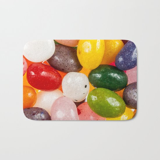 Cool colorful sweet Easter Jelly Beans Candy Bath Mat