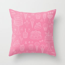Pink Dessert Throw Pillow