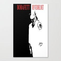 Boba Fett - Dented Helmet Canvas Print
