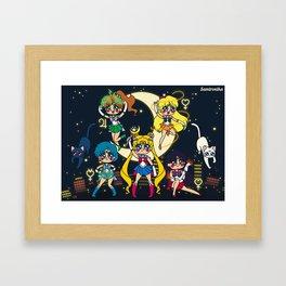 Sailor Moon 20th Anniversary Tribute Framed Art Print