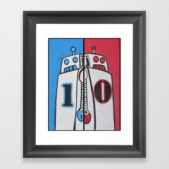 Binary Brothers Framed Art Print