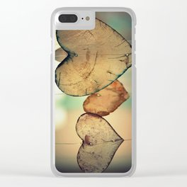 Vintage Boho Chic Bokeh Hearts Wind Chimes Clear iPhone Case