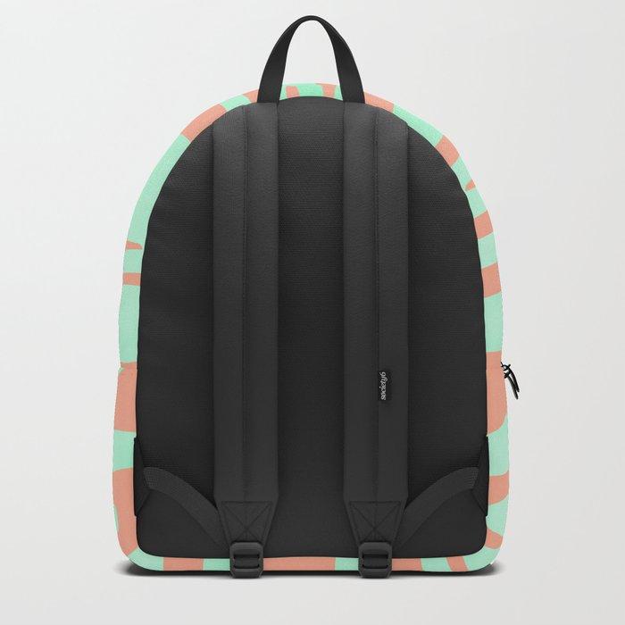 Sweet Life Soft Serve Peach Coral + Mint Meringue Backpack