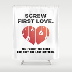 First Love [BLACK] Shower Curtain