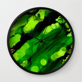 Deep Space Green Wall Clock