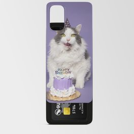 Happy Birthday Fat Cat In Party Hat With Cake Android Card Case