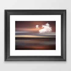 SEASCAPE - abstract landscape in glowing copper tones Framed Art Print