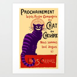 Cheshire Cat 'chat noir' poster Art Print