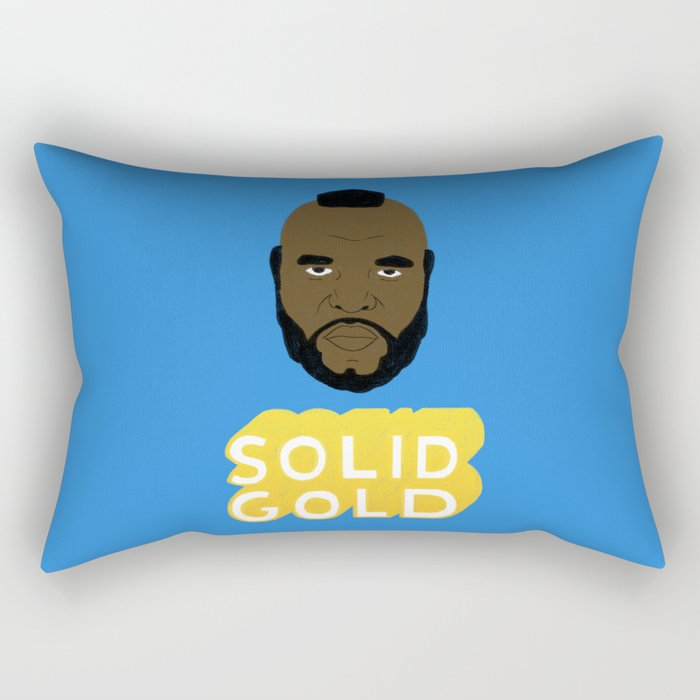 Solid Gold Rectangular Pillow