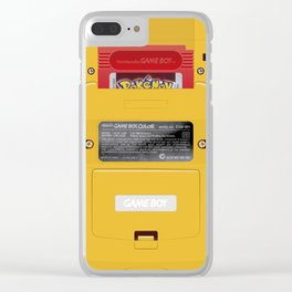 Nintendo Game Boy Color Yellow (Pokémon Red) Clear iPhone Case