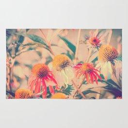Summer Cone Flowers Echinacea Scenic Botanical Rug