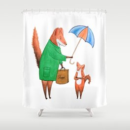 Fox friends Shower Curtain