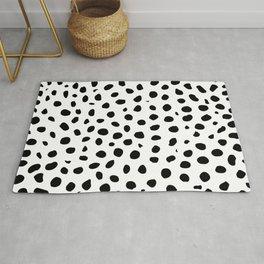 Black And White Cheetah Print Rug