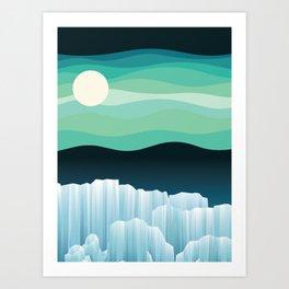 Up North (Midnight version) Art Print