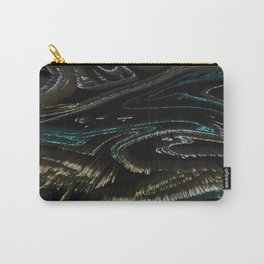 Textures with Grey & White Border Carry-All Pouch