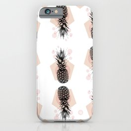 Pineapple and geometricos iPhone Case