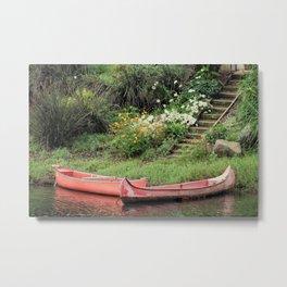Canoe Landing Metal Print