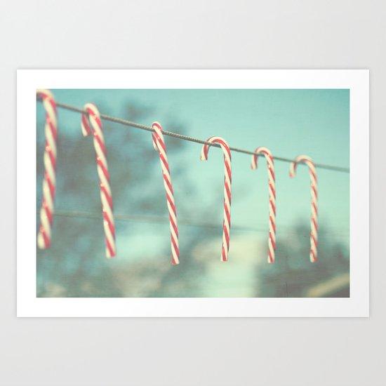 candy cane line Art Print