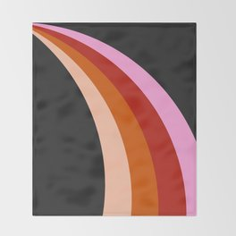 Retro Rainbow Stripes Throw Blanket