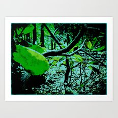 Garden in Eclipse Art Print