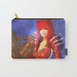 Beauty girl with bear hat Carry-All Pouch