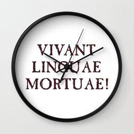 Long Live Dead Languages - Latin Wall Clock