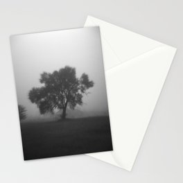 Tree in Field of Fog Stationery Cards