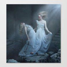 Upon the eternal sleep Canvas Print