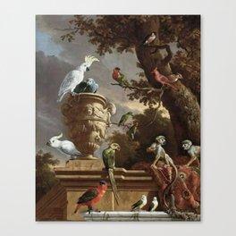 The Menagerie Melchior d'Hondecoeter 1690 Canvas Print